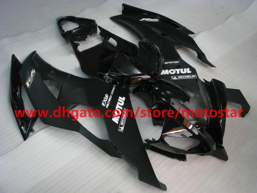 flat glossy black fairing for 2008 2009 2010 YAMAHA YZF-R6 YZFR6 08 09 10 YZF R6 bodywork R15A