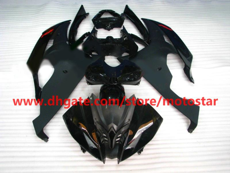 Matt Black Bodywork Fairings för YZF R6 2008 2009 2010 YZF-R6 08 09 10 YZFR6 600 YZF600 Fairing Kit