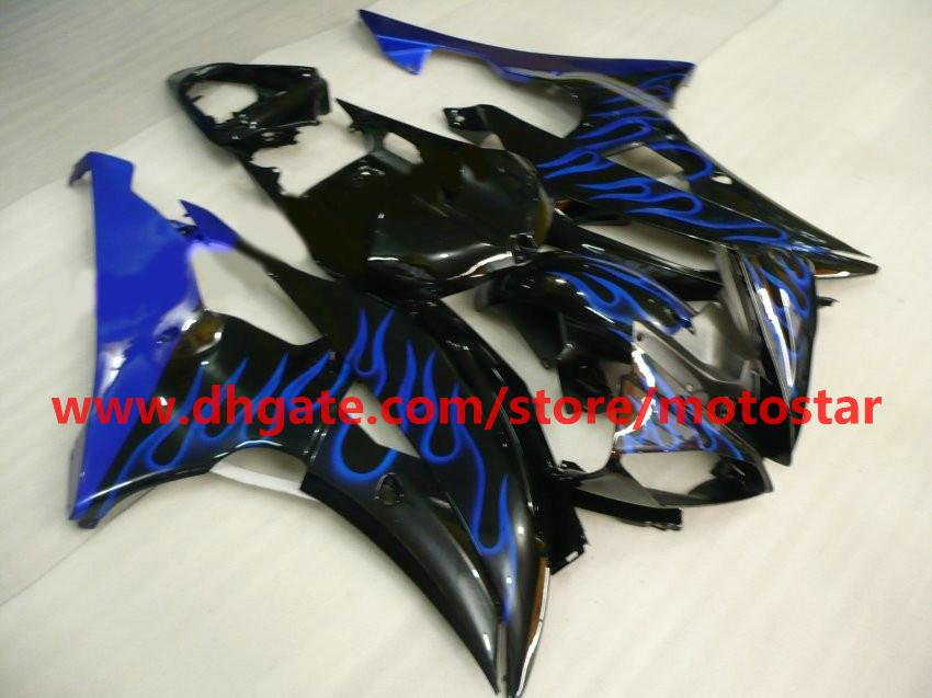 High grade bule flame fairing for 2008 2009 2010 YAMAHA YZF-R6 YZFR6 08 09 10 YZF R6 bodywork R19A