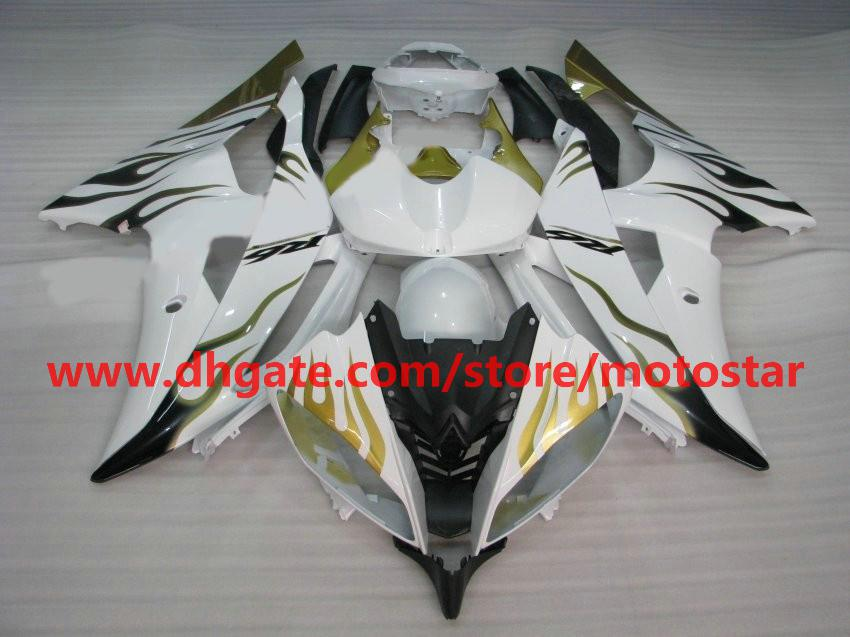 purple flame white fairing for 2008 2009 2010 YAMAHA YZF-R6 YZFR6 08 09 10 YZF R6 bodywork R29A