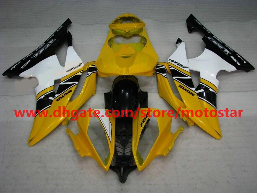 Hot sale orange white fairing for 2008 2009 2010 YAMAHA YZF-R6 YZFR6 08 09 10 YZF R6 bodywork R27A
