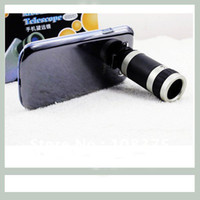 Wholesale Case For I9 - Free Shipping 8X Optical Zoom Telescope Camera Lens with Crystal Case For Samsung galaxy s3 s iii i9