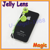 Wholesale Lomo Wide - 10pcs lot Jelly magic Wide Angle Start Lens Fisheye for Mobile Phone Digital Lomo Camera