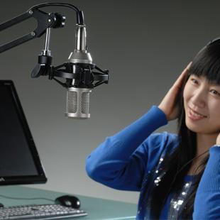 Горячая высокое качество Takstar PC-K300 комплект записи микрофон микрофон с 48 В питания и аудио кабель