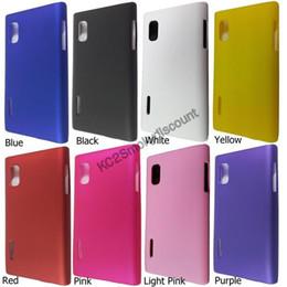 Wholesale Hard Case Lg Optimus L5 - hot sell free shipping 20pcs lot Hard Back Cover Case for LG E610 Optimus L5