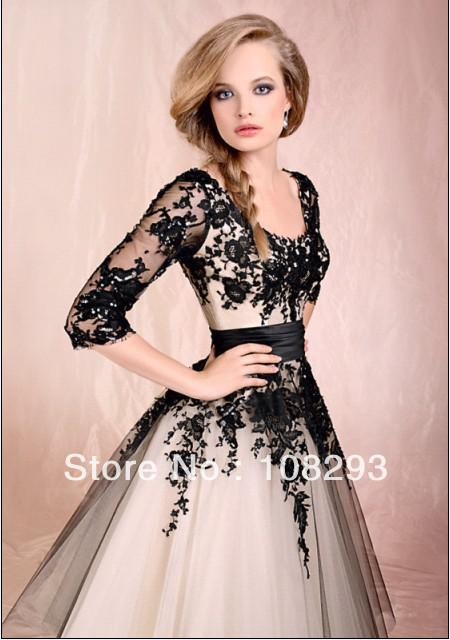 ae95b7f9240 2014 new year 80 on ivory black prom dresses ankle length a line scoop  backless