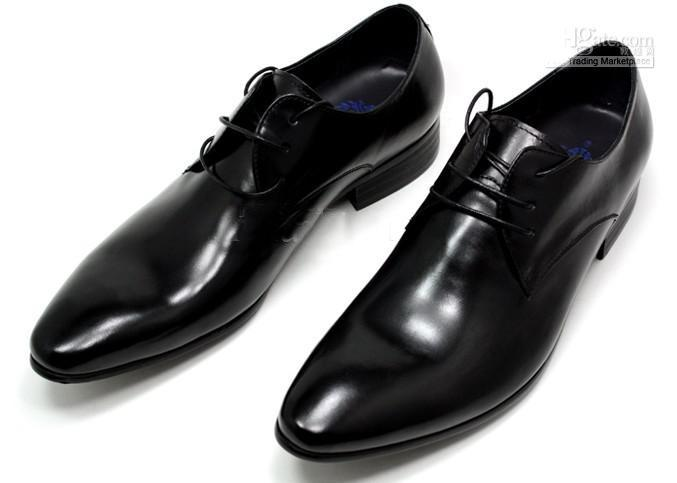 8ca4527518381 Men s dress shoes, simple and elegant, self-pointed, business shoes,  wedding shoes in sincere