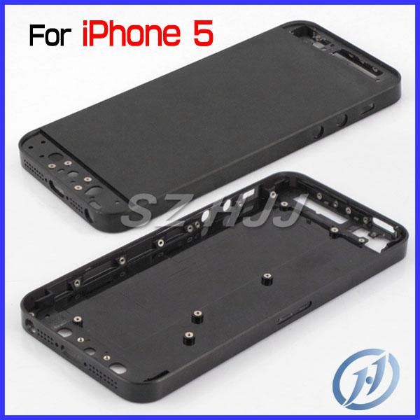 2018 For IPhone 5mod Transparent Back Housing Cover Plastic Battery Door  With Side Button And Top Bottom Glass Lens For IPhone 5 5th From Sasa_cn,  ...
