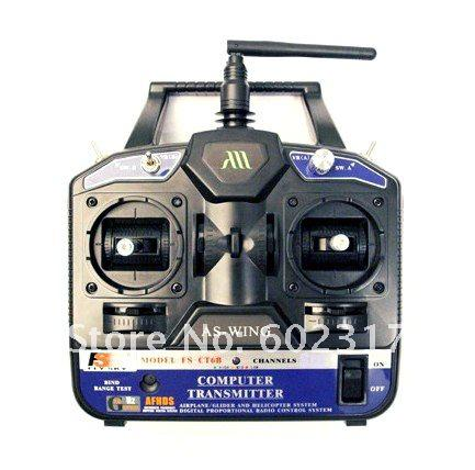Flysky FS 2.4G 6ch Radio control RC Transmitter & Receiver FS-CT6B for 3D rc helicopter + Free Shipping