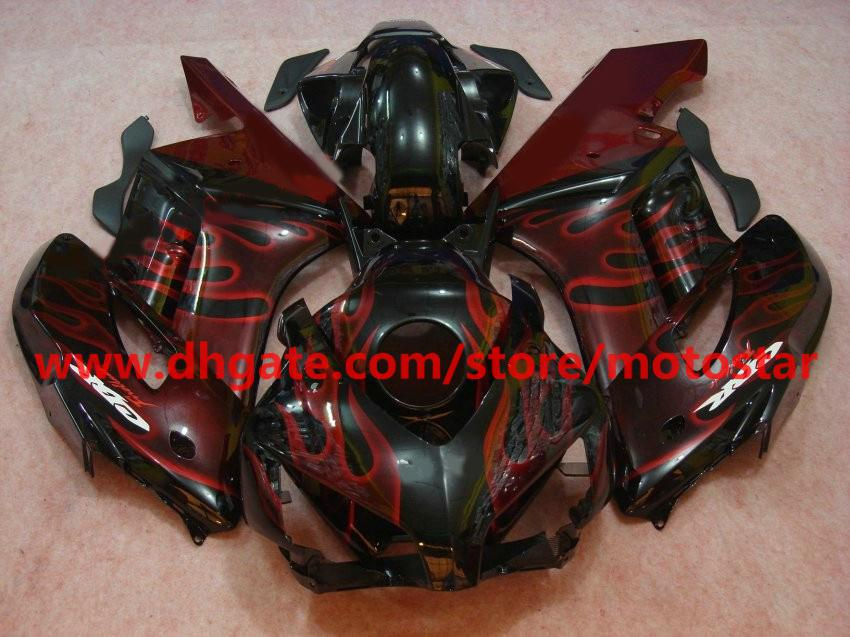High grade red flame Injection mold fairing kit for Honda CBR1000RR 2004 2005 CBR1000 04 05 RX5D