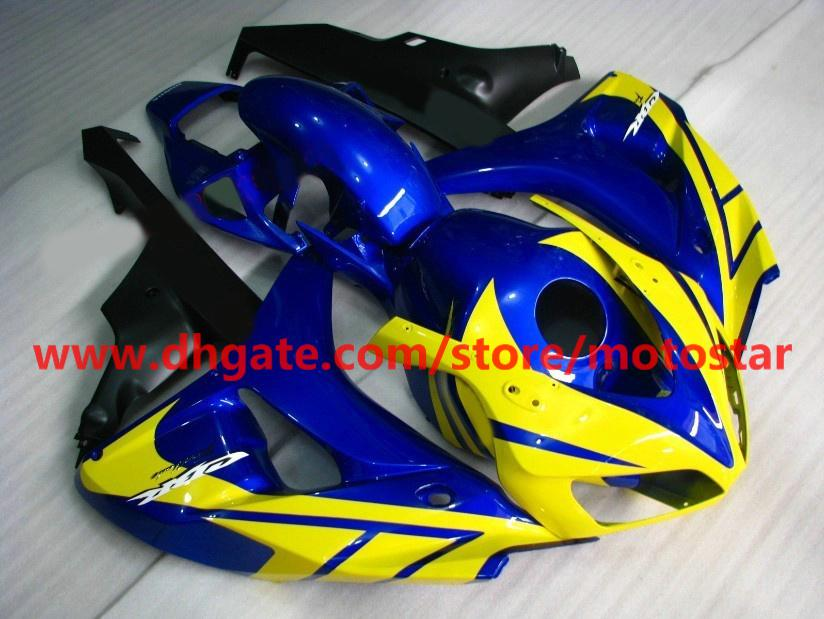 Carenatura iniezione giallo blu calda vendita 2006 2007 HONDA CBR1000RR 06 07 carene CBR 1000RR RX1a