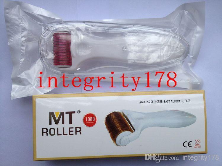 50 pçs / lote MT 1080 titânio agulhas derma roller, Dermaroller para o tratamento do corpo, Titaium derma roller DHL