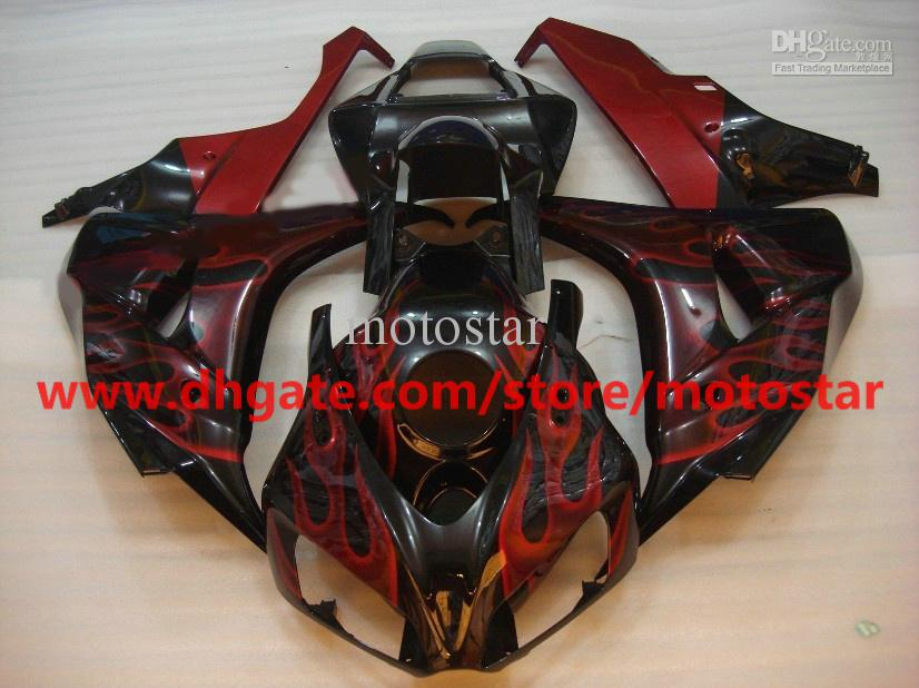 red flame motorcycle Injection fairing for 2006 2007 HONDA CBR1000RR 06 07 CBR 1000RR fairings RX5a