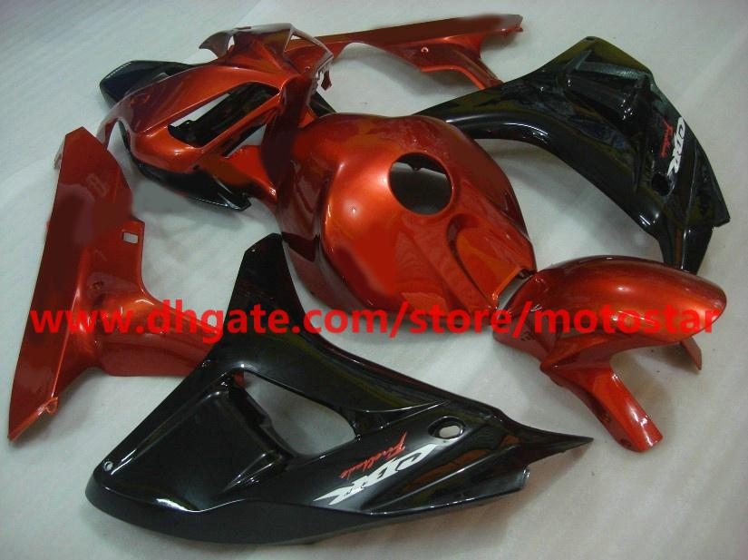 gloden black popular Injection fairing for 2006 2007 HONDA CBR1000RR 06 07 CBR 1000RR fairings RX6b