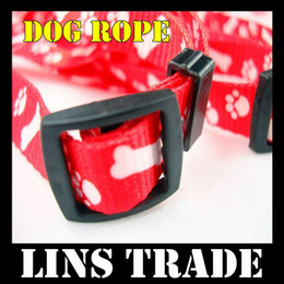 Wholesale Dogs Draw - Free shipping New 10PCS Lot dog chain pet traction rope nylon leash harness chest collar drawing nec