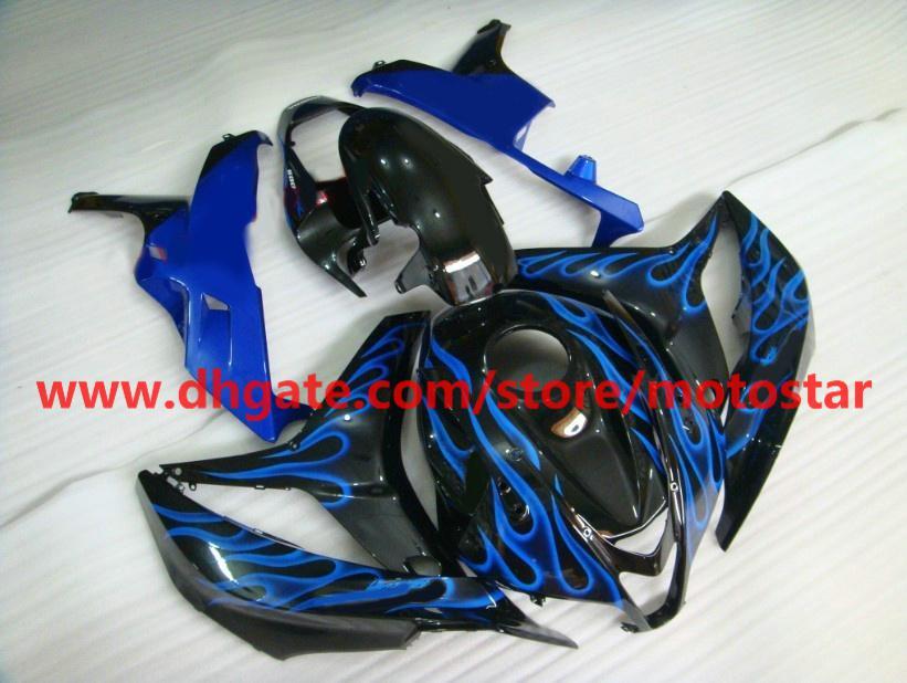 bule flame black Injection fairings kit for Honda CBR600RR 2007 2008 CBR 600RR F5 07 08 CBR600 RX3A