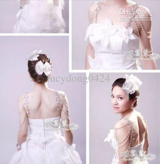 Novo Estilo Epaulet Jaqueta De Cristal Colar De Jóias Brincos Conjuntos De Vestidos De Noiva Do Casamento Vestido