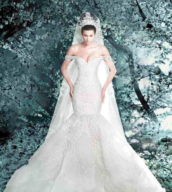 Robes de mariée sirène design rétro classique meilleure dentelle avec robe de mariée cathédrale magnifique voile