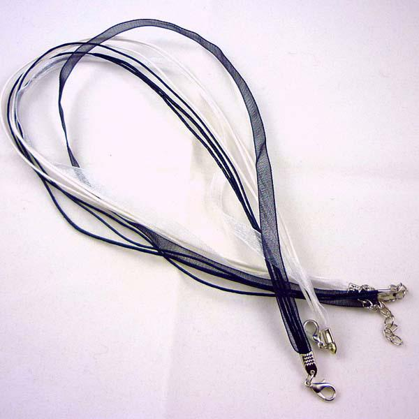 Silk Organza Ribbon braided Necklace Strap Cord Chain 100pcs Mix Color Free Shipping