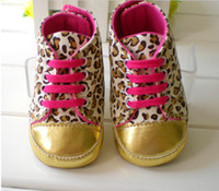 Wholesale Girls Wearing Canvas Shoes - Baby girls shoes Leopard Toddler shoes soft sole baby Walkers Wear Comfortable kids Casual Shoes