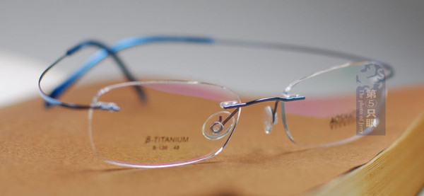 f312f96191a Hingeless Rimless Titanium Eye Glasses Eyewear Blue B 136 Lightweight Eyeglass  Frames Online Eye Frames From Youyinhua