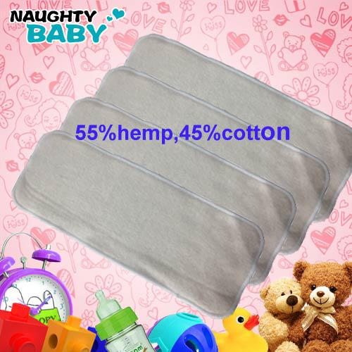 4 layers Reuseable Washable Hemp Organic Cotton Insert Baby Cloth Diaper Nappy Inserts