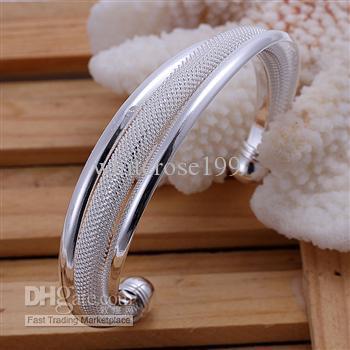 Commercio all'ingrosso - regalo di Natale di prezzo più basso al dettaglio, spedizione gratuita, nuovo braccialetto di moda in argento 925 B47