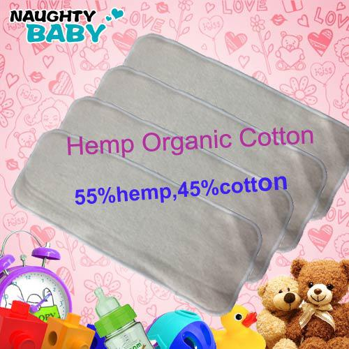 hot sale best quality 3 layers Washable Reuseable Hemp Organic cotton Baby Cloth Diaper Nappy Inserts free shipping