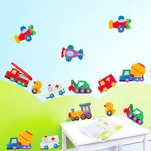 Train Wall Decor engineering car wall stickers mixer truck train wall decal little