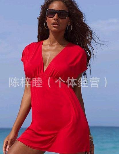 2016 zomer strand jurk hot mode sexy vrouwen v-hals jurk strand mini rokken sexy pop cool sexy strandkleding voor vrouwen 12 kleuren