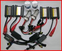 kits de conversión h4 hid al por mayor-1 kit 35W H4-4 balastos delgados Xenón dual (haz alto) HID Kits H13-4 9004 / 9007-4 6K 8K Base de metal
