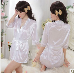 Wholesale Cardigan Pajamas - The sexy temptation cardigan dress rope more clothes suit bathrobe pajamas kimono