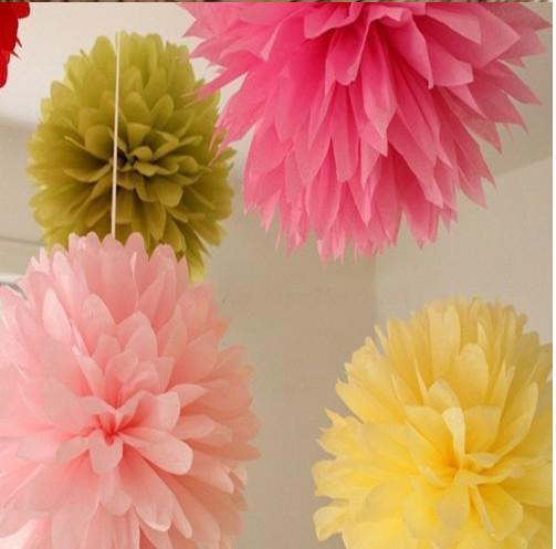 12 tums bröllop dekoration papper pom pom blommar tissue papper pom poms blomma bollar
