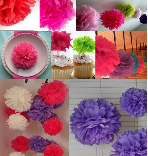 12 inch Wedding Decoration Paper Pom Pom Blooms Tissue Paper Pom Poms Flower Balls