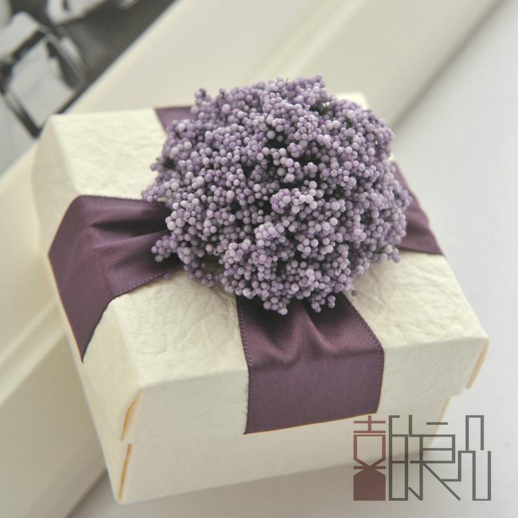 Beautiful Purple Lavender Candy Boxes Paper Square Wedding Favors ...