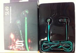 Wholesale Soul Sl49 Earphones - Hot Mini Soul SL49 Cheap In-Ear Earphone Headset Headphone For Apple Ipod Iphon Free Shipping