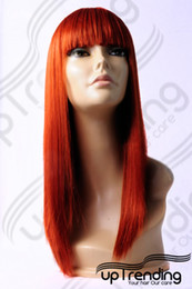 Wholesale Red Auburn Wig - HIGH HEAT RESISTANT TRENDY FRINGE LADY WIG COPPER RED W42