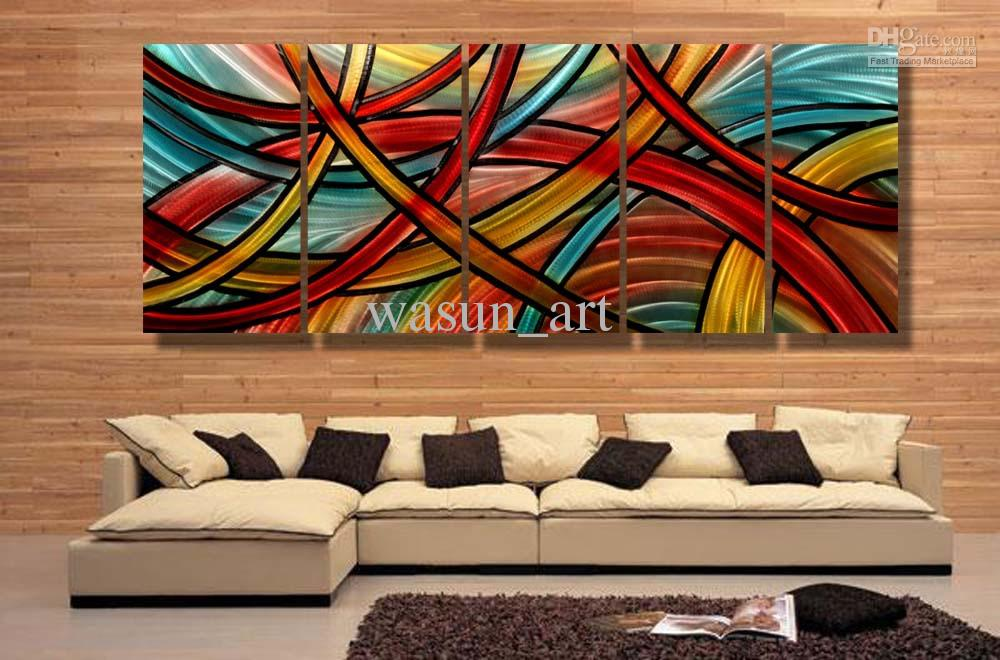 2018 Modern Contemporary Abstract Painting Metal Wall Art