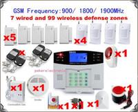 alarme de zone à la maison achat en gros de-1 set x 106 zones Système d'alarme GSM pour la maison sans fil Alarme antivol Numérotation automatique
