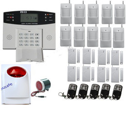 Wholesale Wireless Wired Gsm Home Alarm - Wireless Wired Home GSM SMS Burglar Security Alarm System NEW Tri-Band