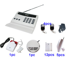 Wholesale Burglar Alarm Sirens - Wireless home security PSTN burglar alarm system w autodialer wireless siren P5A
