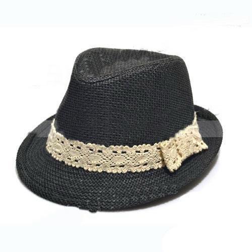Дети Соломенная фетровая шляпа детские летние Соломенная ковбойская шляпа мальчики девочки соломенные Федоры детские Strawhat 10 шт.