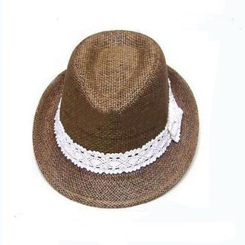 Mix stil Çocuklar Saman Fedora Şapka Bebek Yaz Hasır Kovboy Şapkası Erkek Kız Saman Fedoras Bebek Strawhat