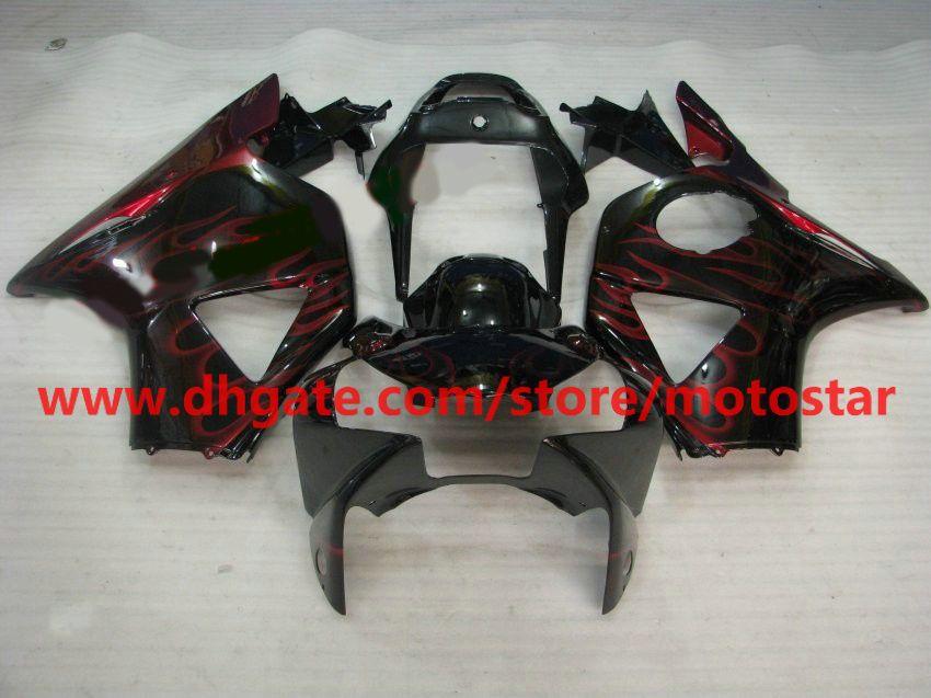 Personalizza la carenatura della carrozzeria a fiamma rossa HONDA CBR954RR 954 2003 2002 CBR900 954RR CBR954 02 03 CBR900RR kit carene