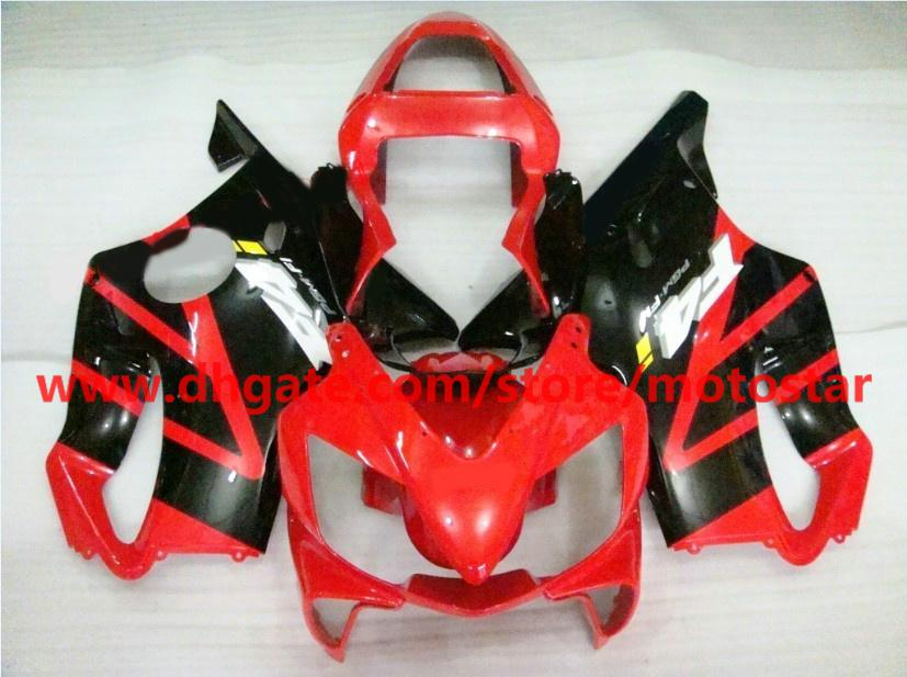 red black F4 fairings kit for HONDA CBR600F4i 2004 2005 2006 2007 CBR600 F4i 04 05 06 07 CBR 600 RX1