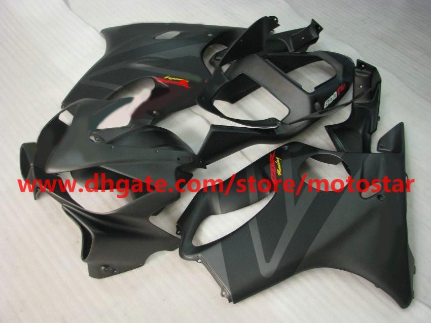 Kit carénages de moulage par injection pour HONDA CBR 600F4i 2001 2002 2003 CBR600 F4i 01 02 03 noir mat