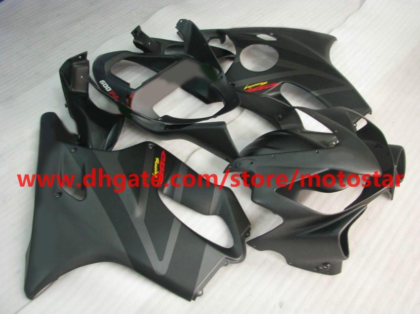 Kit carenature carrozzeria stampi ad iniezione HONDA CBR 600F4i 2001 2002 2003 CBR600 F4i 01 02 03 nero piatto