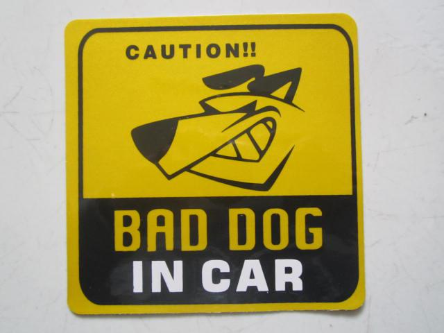 2019 Personalized Funny Car Stickers Dacals Bad Dog In Car