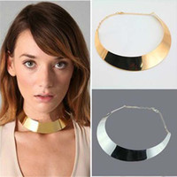 Nouveau arrivé! Chorker False Collar Collier Choker Chain Gold / Silver Costume Bijoux bijoux femme 2colors disponibles