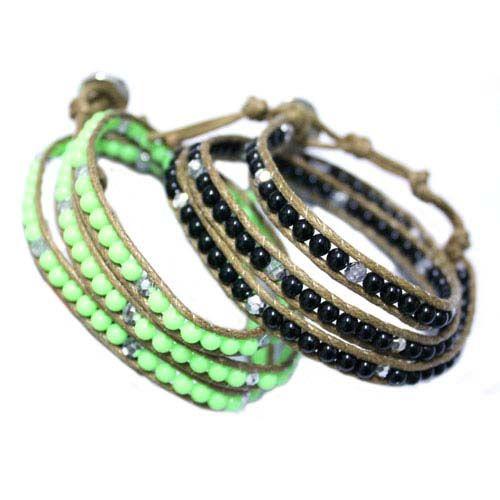 Promotion! Nouveau bracelet en cuir turquoise 5colors disponible 20pcs / lot livraison gratuite
